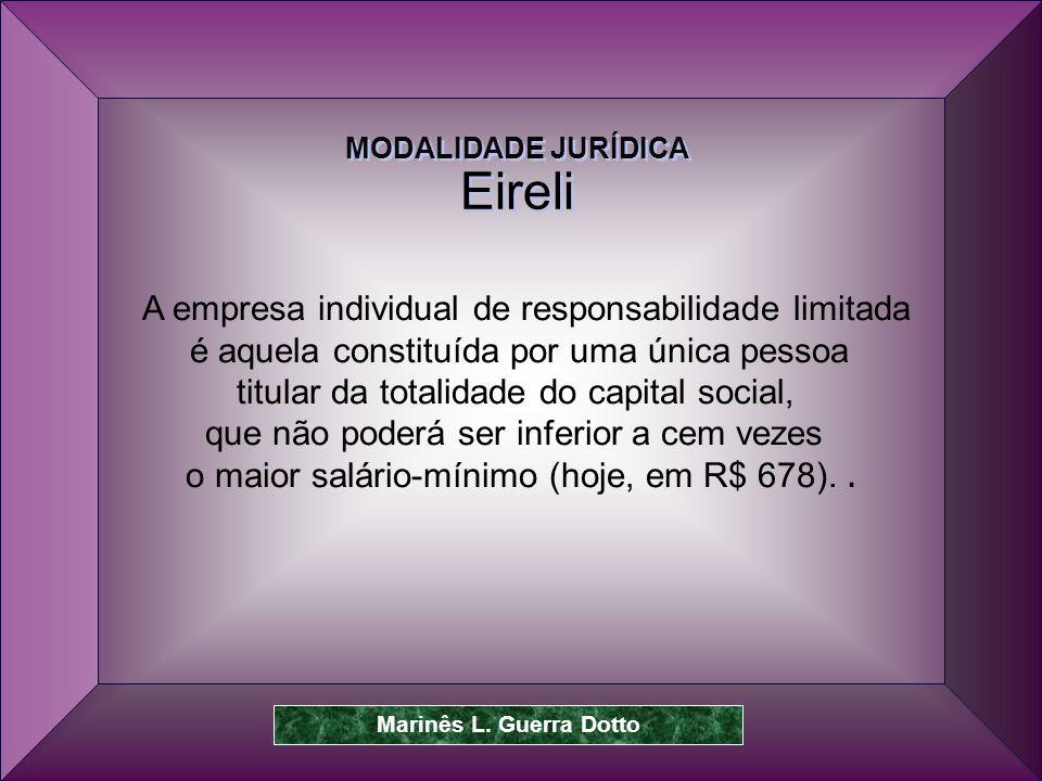 Eireli A empresa individual de responsabilidade limitada
