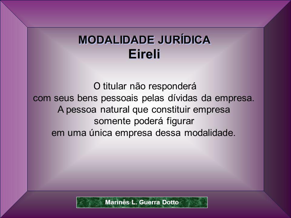 Eireli MODALIDADE JURÍDICA O titular não responderá