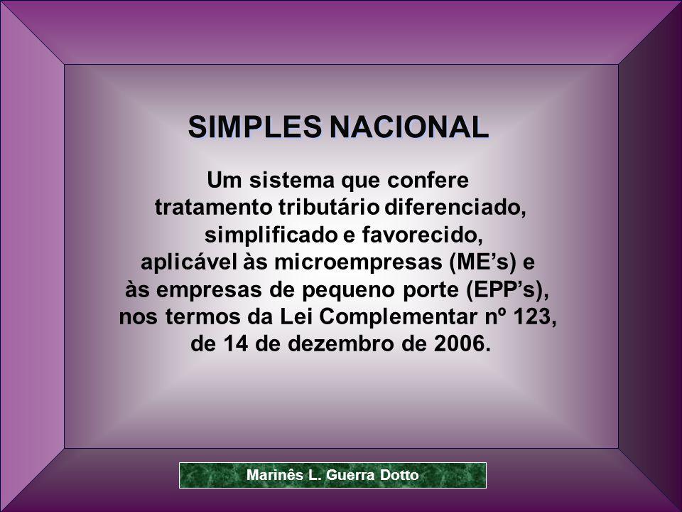 SIMPLES NACIONAL Um sistema que confere