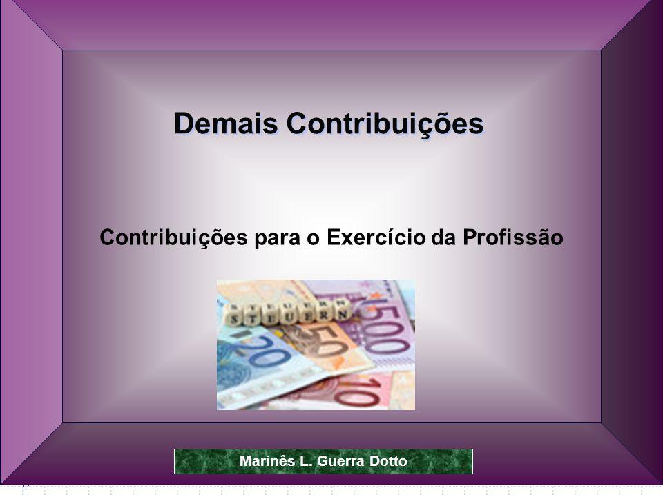 Contribuições para o Exercício da Profissão