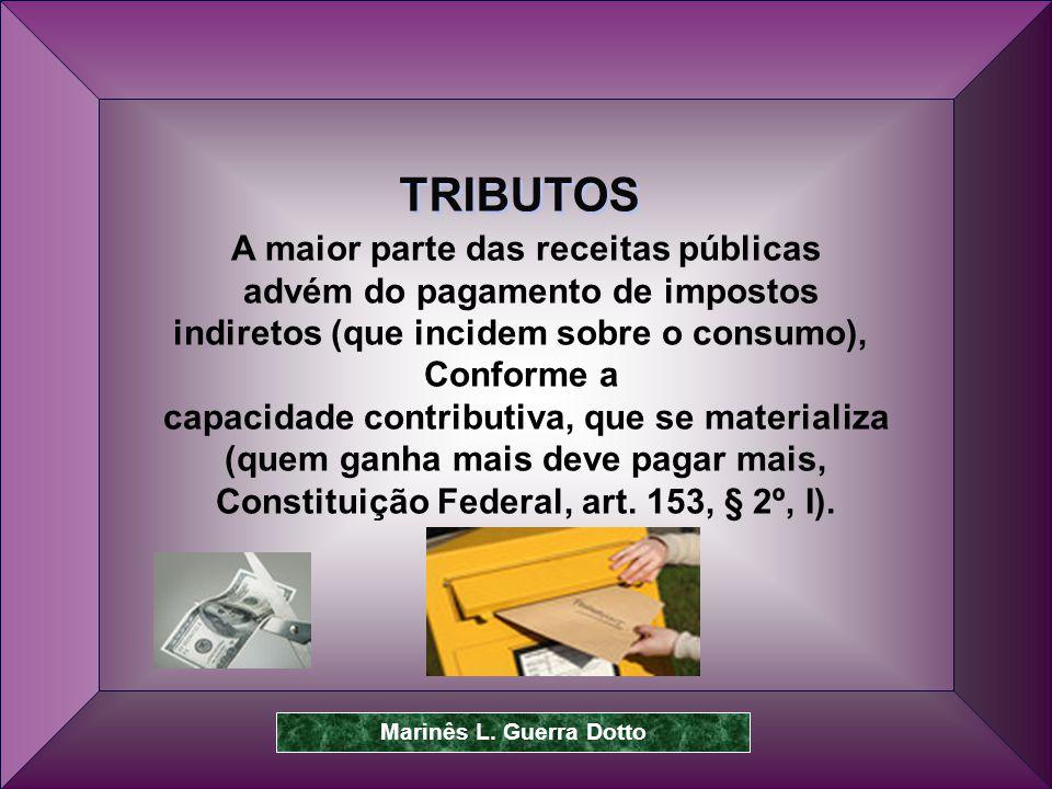 TRIBUTOS A maior parte das receitas públicas