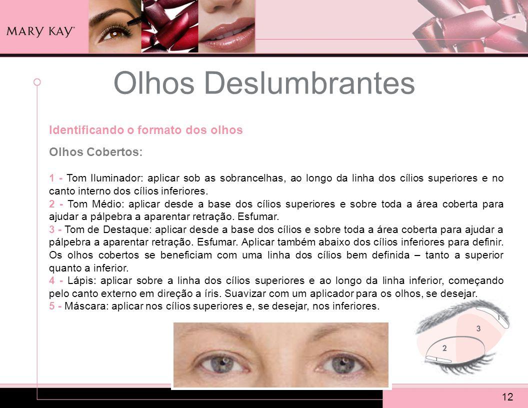 Olhos Deslumbrantes Identificando o formato dos olhos Olhos Cobertos: