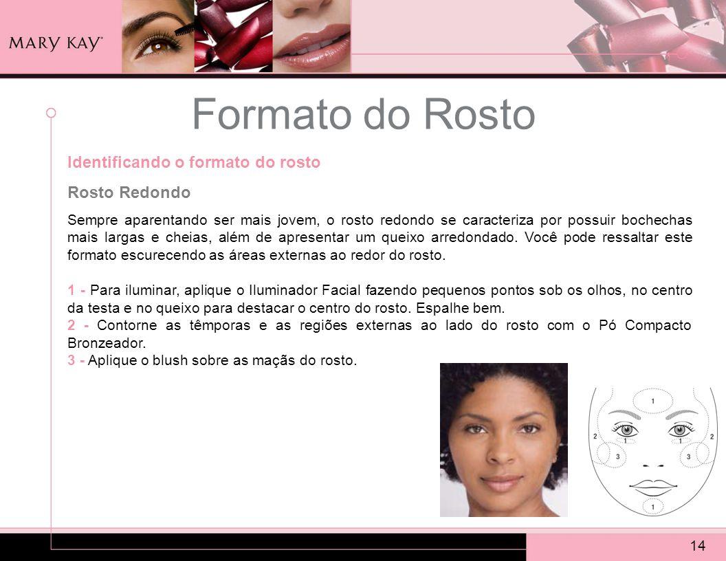 Formato do Rosto Identificando o formato do rosto Rosto Redondo