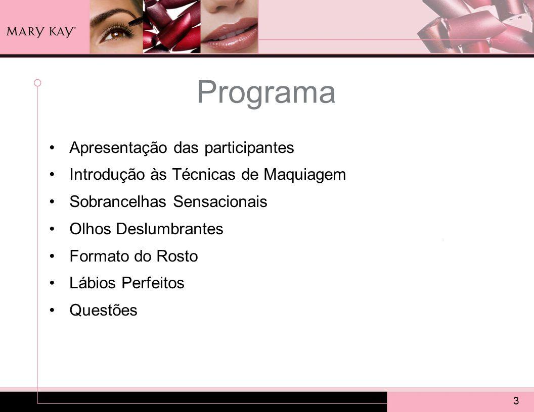 Programa Apresentação das participantes