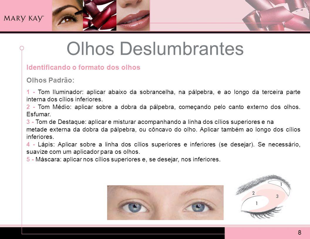 Olhos Deslumbrantes Identificando o formato dos olhos Olhos Padrão: