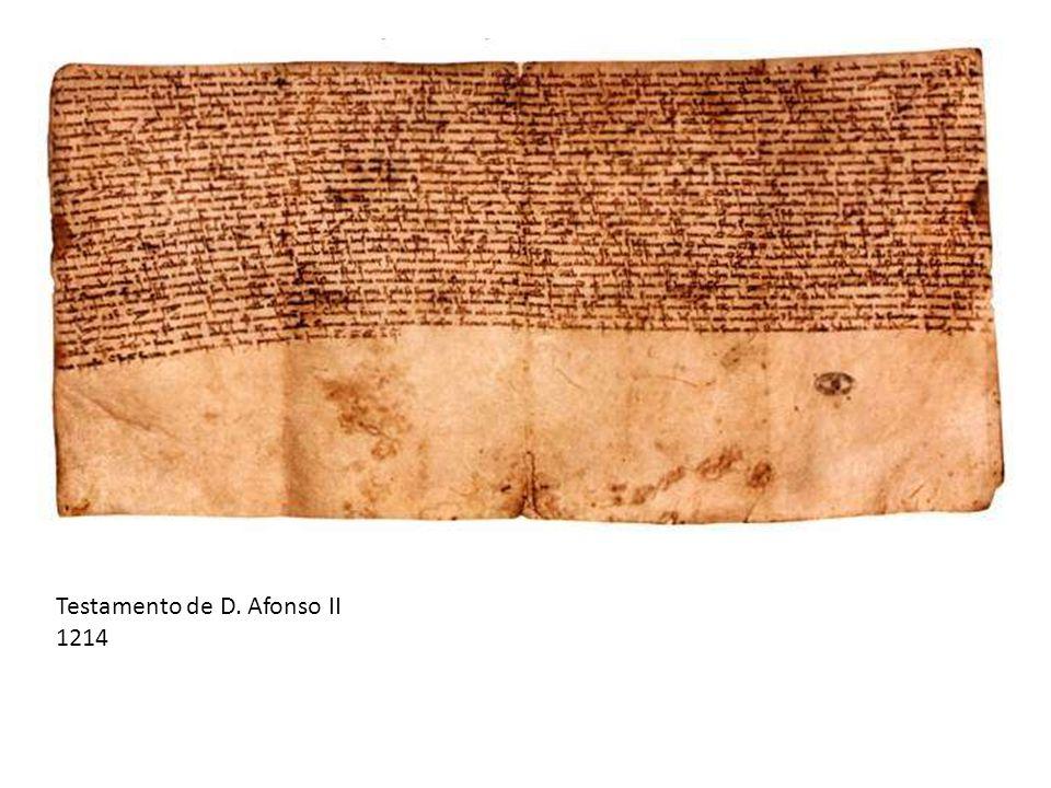 Testamento de D. Afonso II