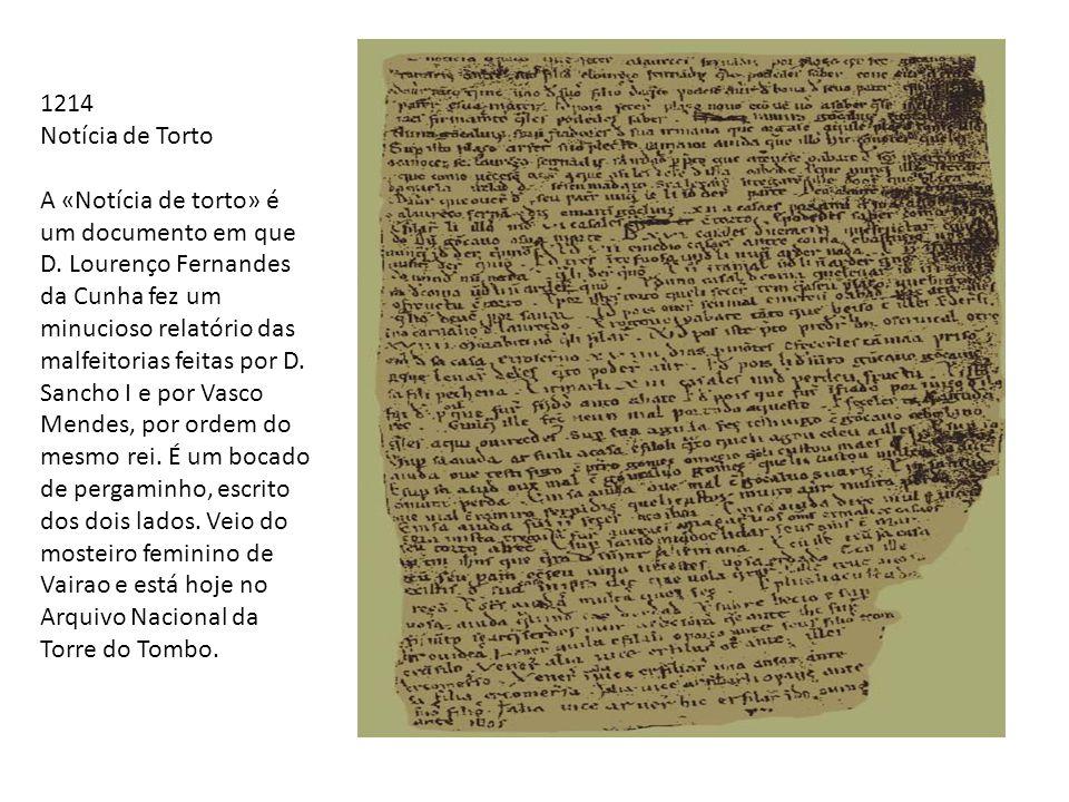 1214 Notícia de Torto.