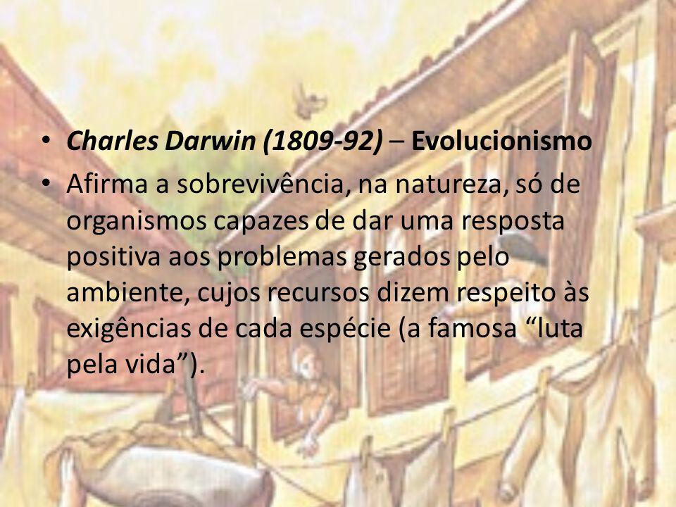 Charles Darwin (1809-92) – Evolucionismo