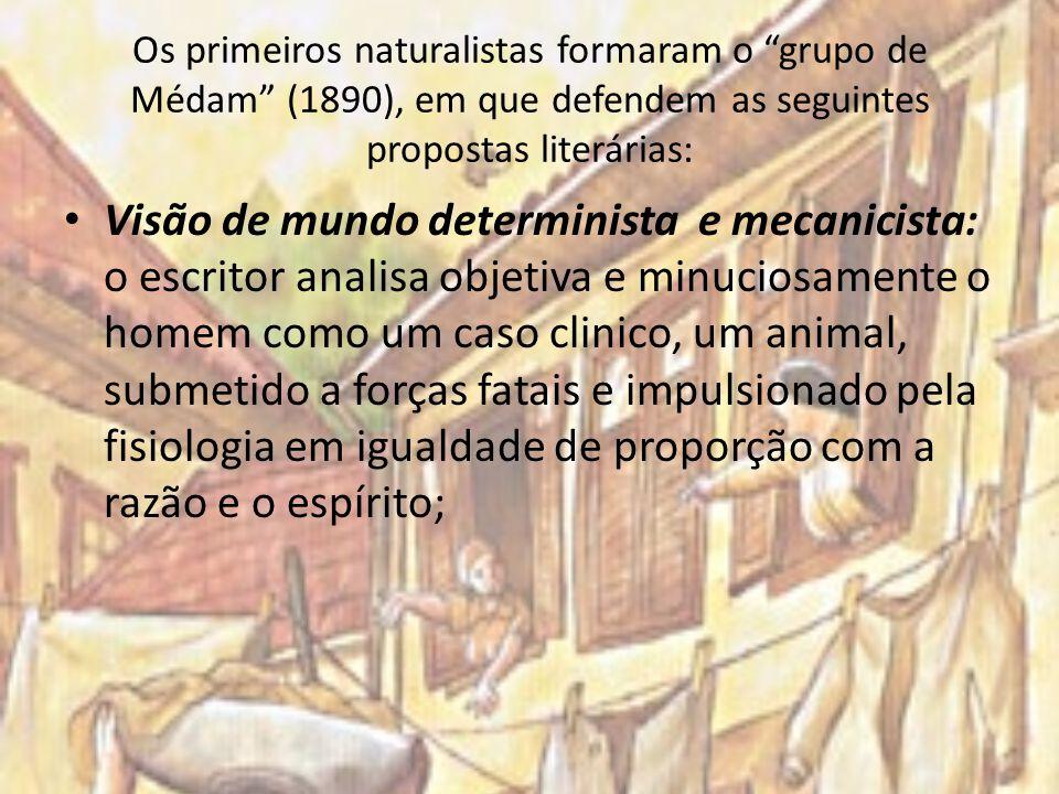 Os primeiros naturalistas formaram o grupo de Médam (1890), em que defendem as seguintes propostas literárias: