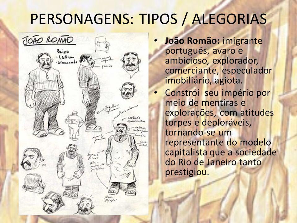 PERSONAGENS: TIPOS / ALEGORIAS