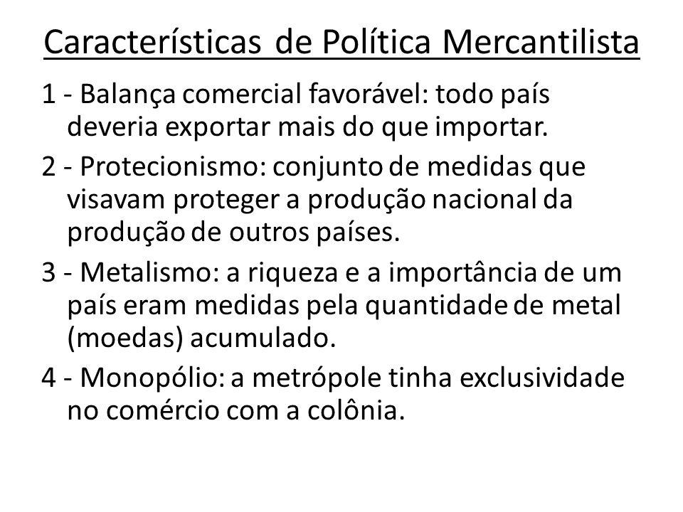 Características de Política Mercantilista