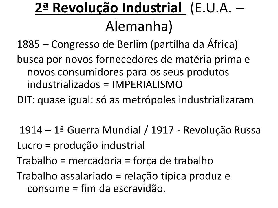 2ª Revolução Industrial (E.U.A. – Alemanha)