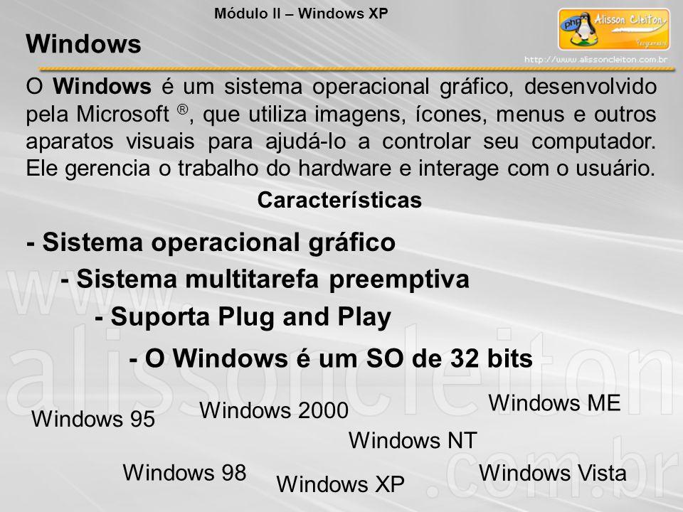 - Sistema operacional gráfico - Sistema multitarefa preemptiva