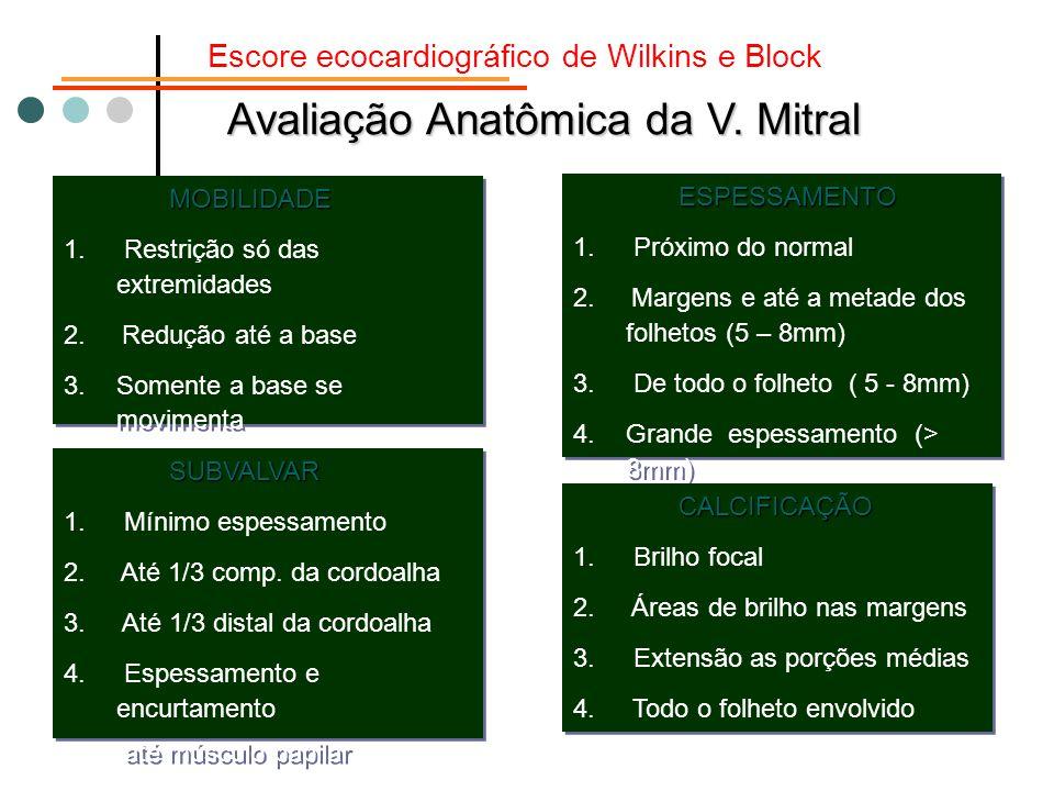 Avaliação Anatômica da V. Mitral