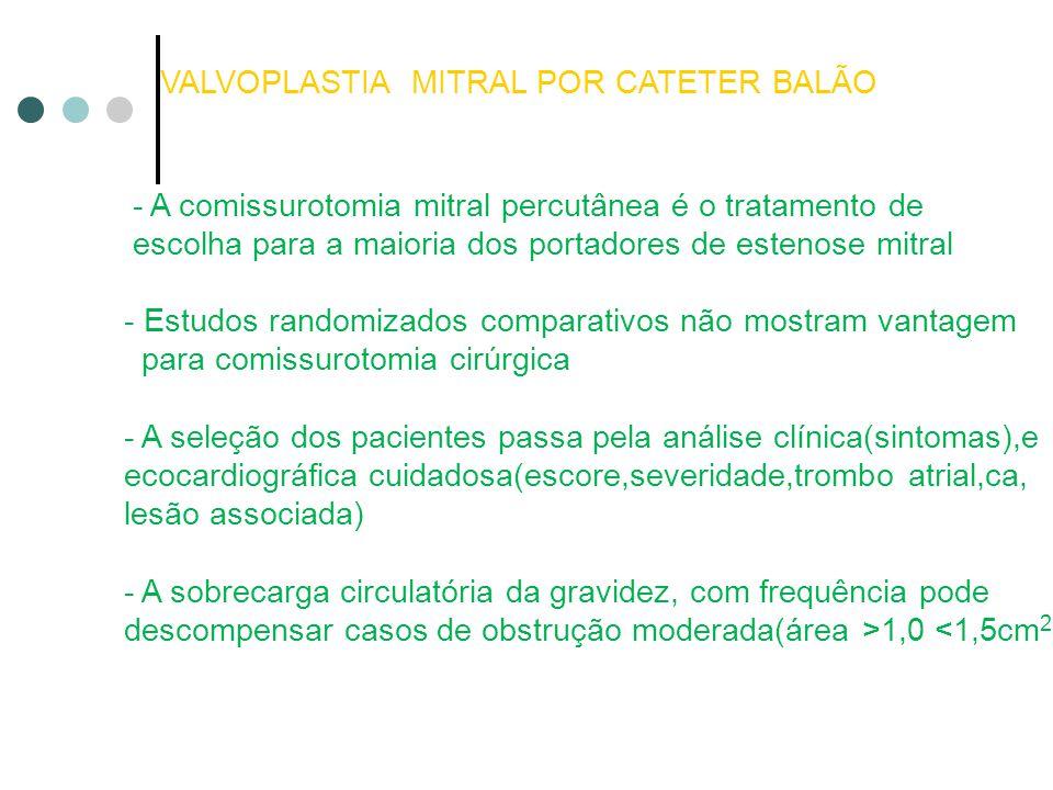 VALVOPLASTIA MITRAL POR CATETER BALÃO
