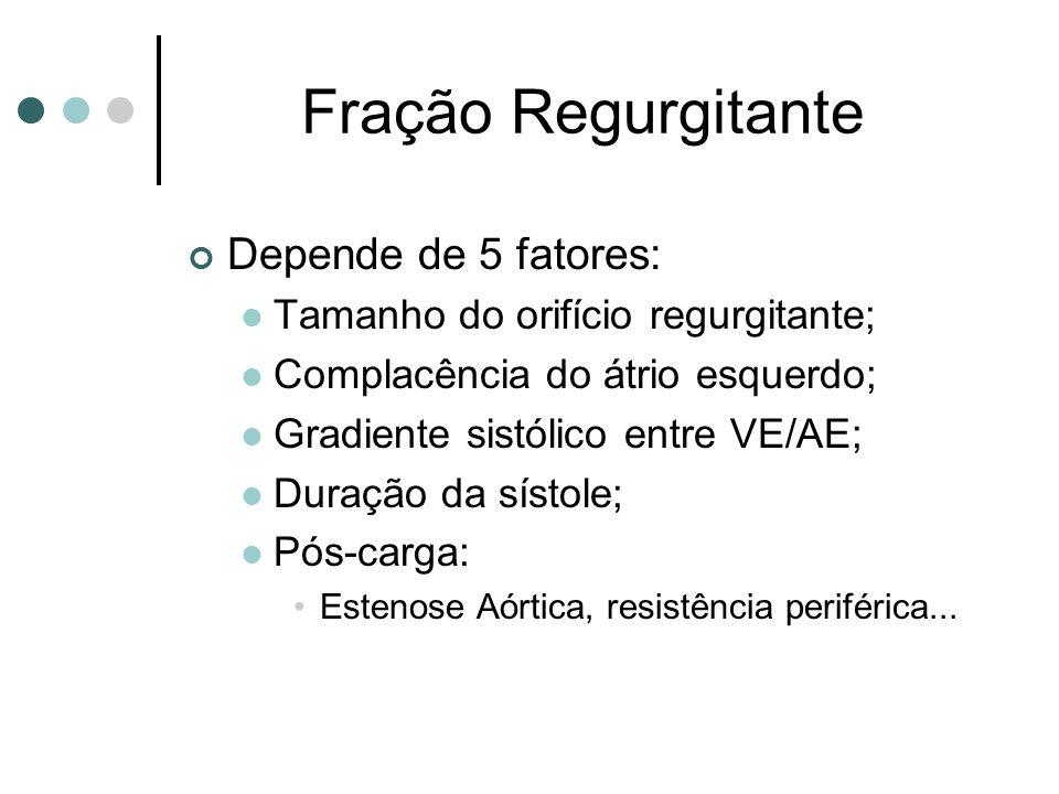 Fração Regurgitante Depende de 5 fatores: