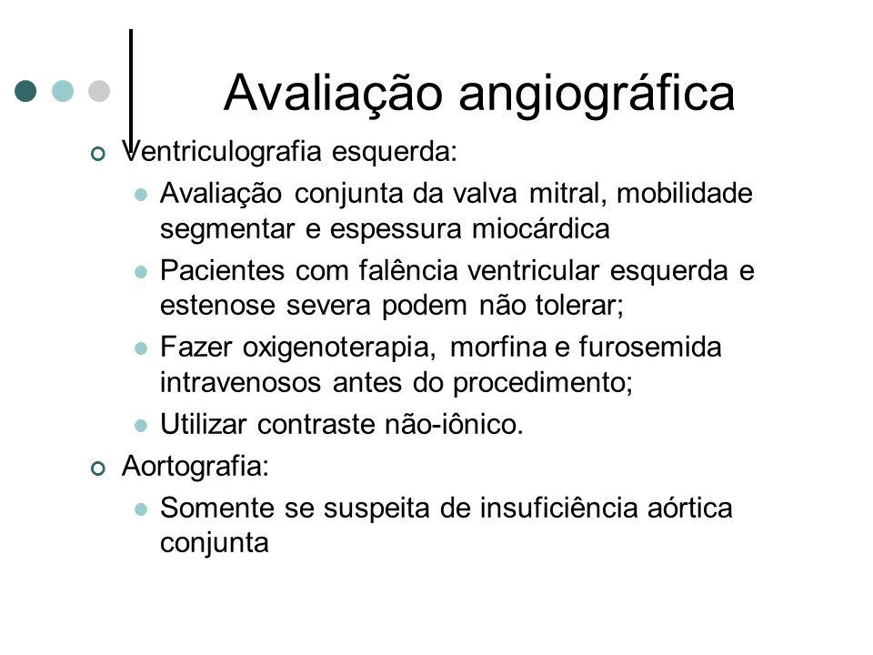 Avaliação angiográfica