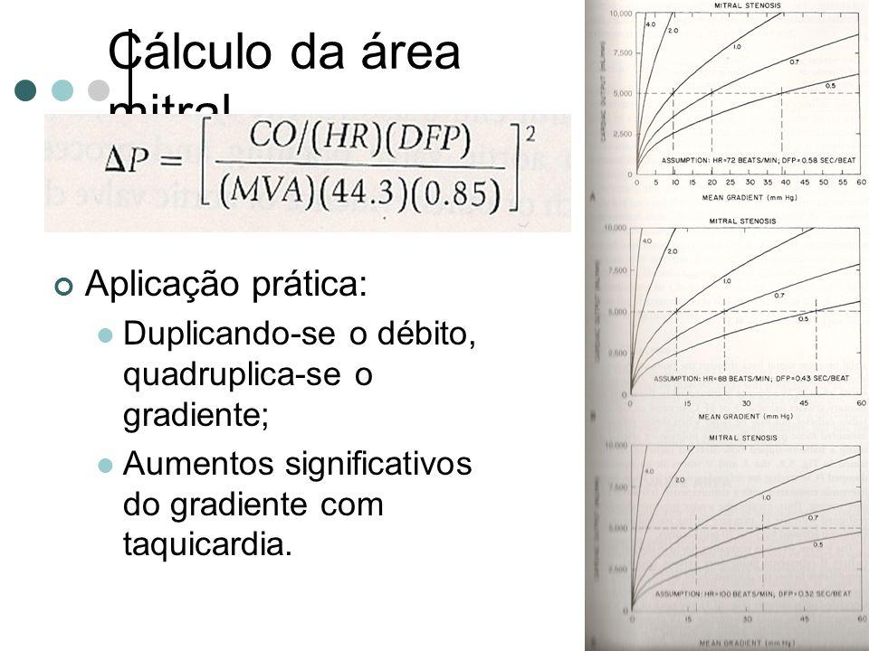 Cálculo da área mitral Aplicação prática:
