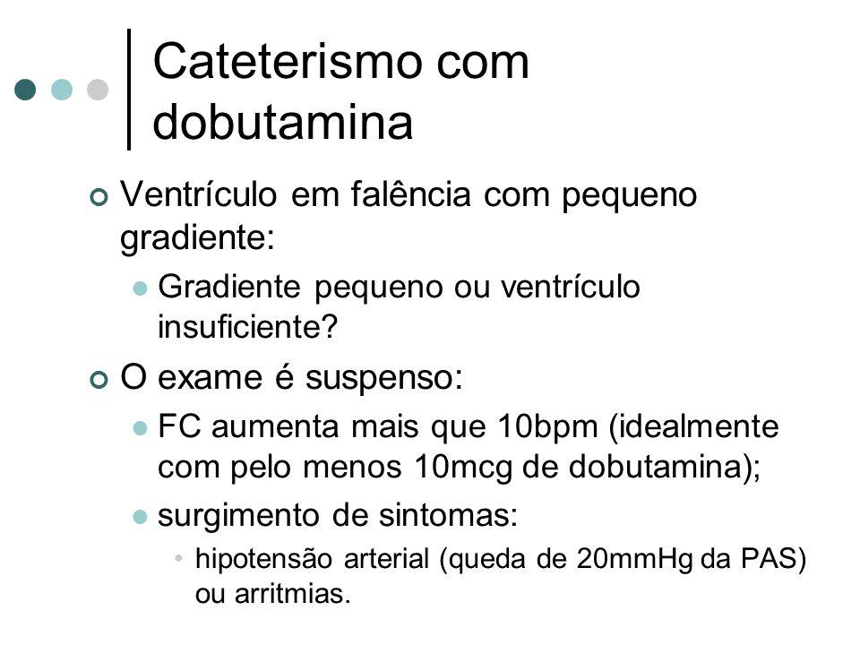Cateterismo com dobutamina