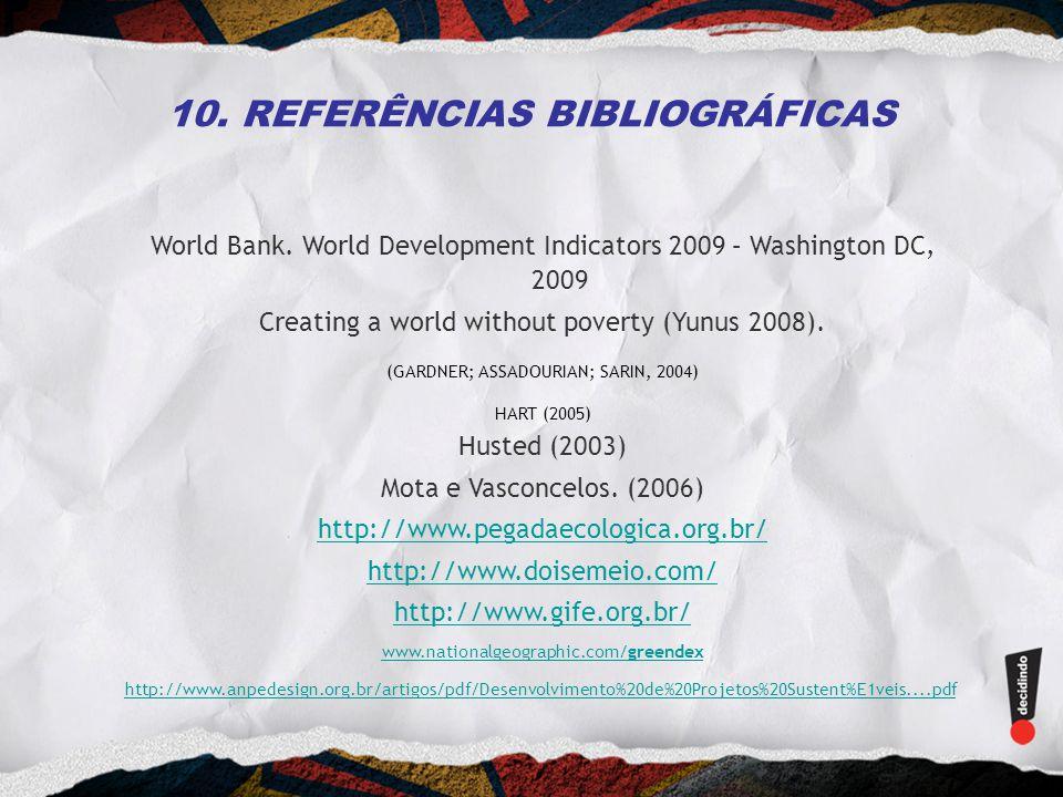 10. REFERÊNCIAS BIBLIOGRÁFICAS
