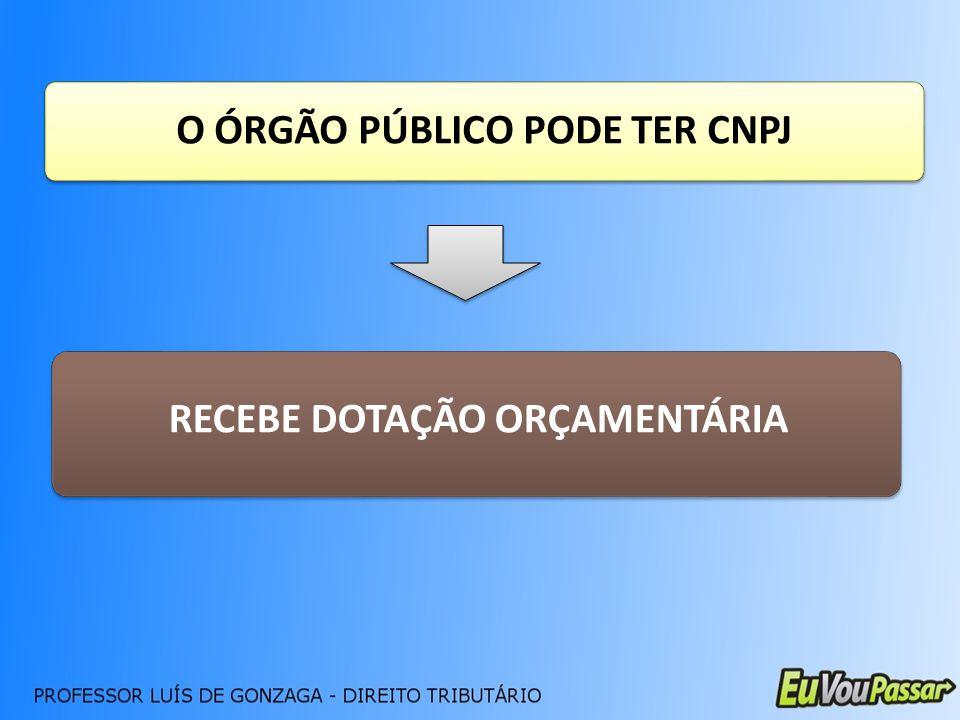 O ÓRGÃO PÚBLICO PODE TER CNPJ RECEBE DOTAÇÃO ORÇAMENTÁRIA