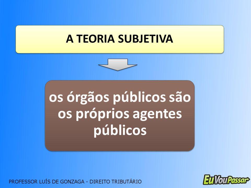 os órgãos públicos são os próprios agentes públicos