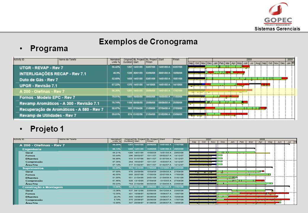 Exemplos de Cronograma
