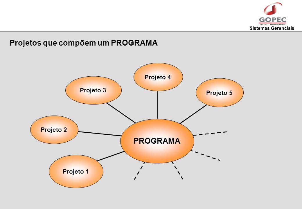 Projetos que compõem um PROGRAMA