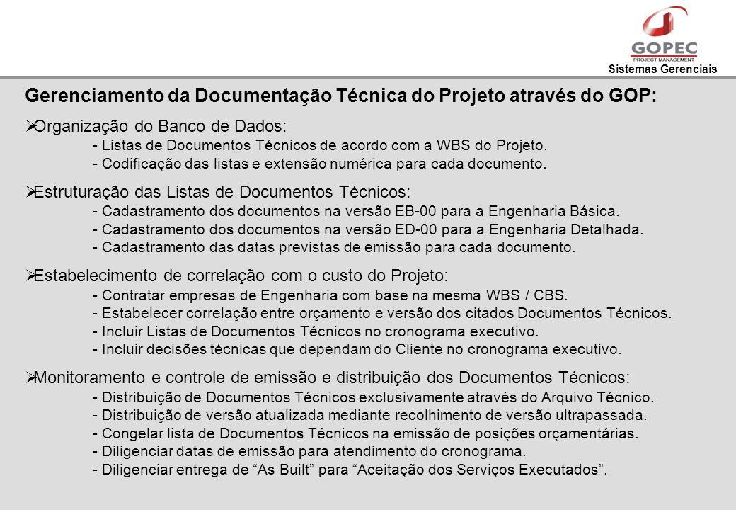 Gerenciamento da Documentação Técnica do Projeto através do GOP: