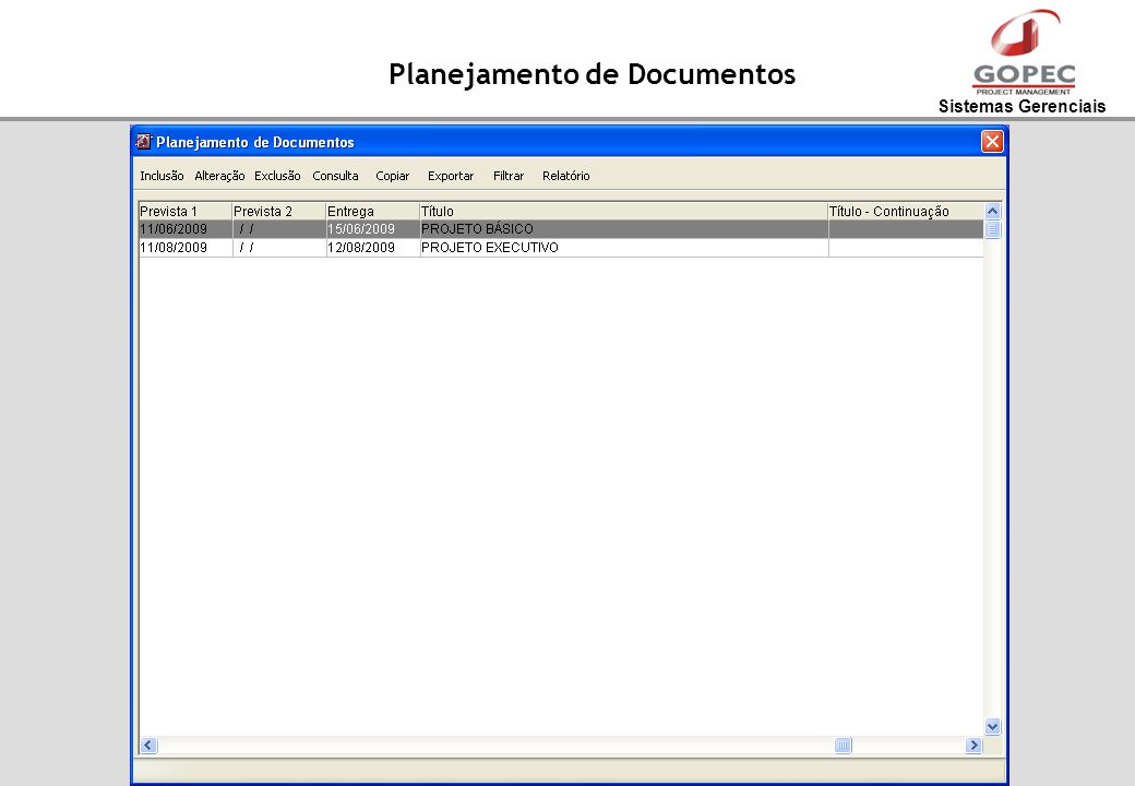 Planejamento de Documentos
