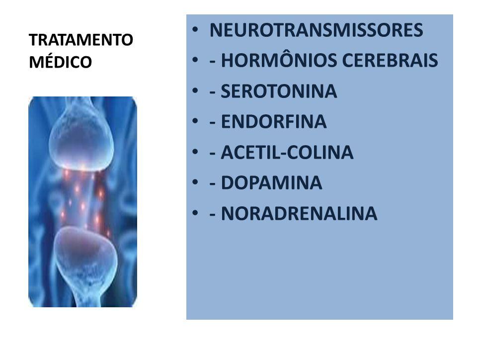 NEUROTRANSMISSORES - HORMÔNIOS CEREBRAIS - SEROTONINA - ENDORFINA