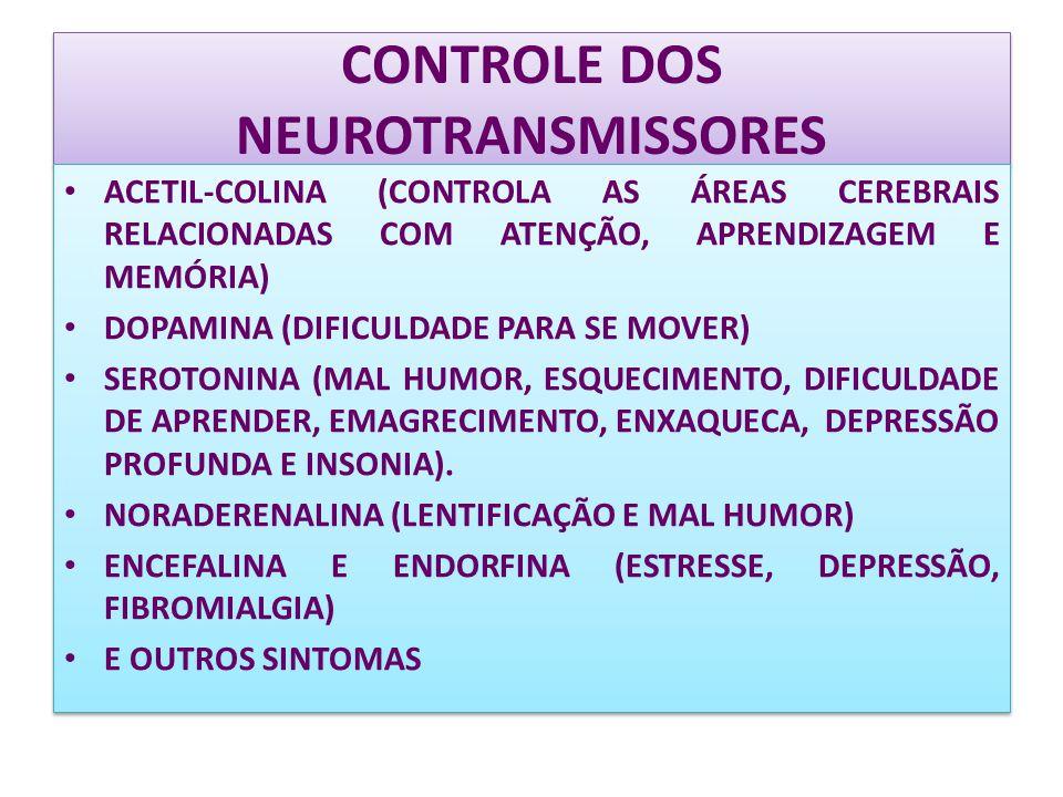 CONTROLE DOS NEUROTRANSMISSORES