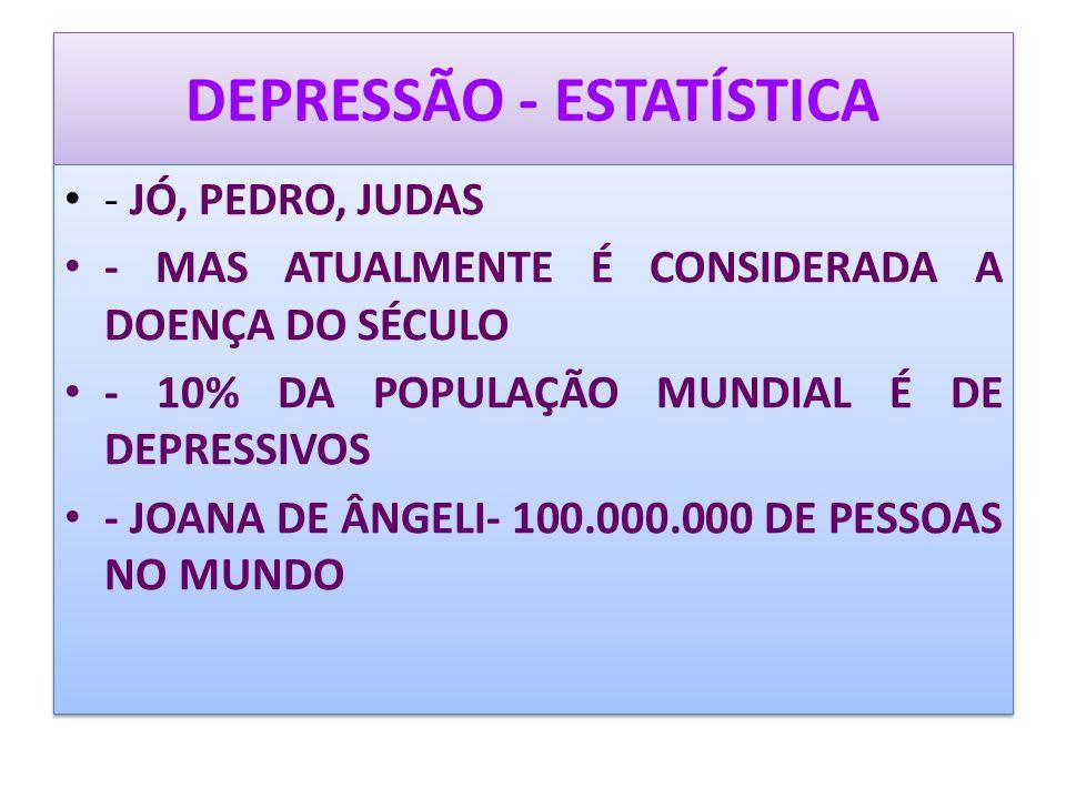DEPRESSÃO - ESTATÍSTICA