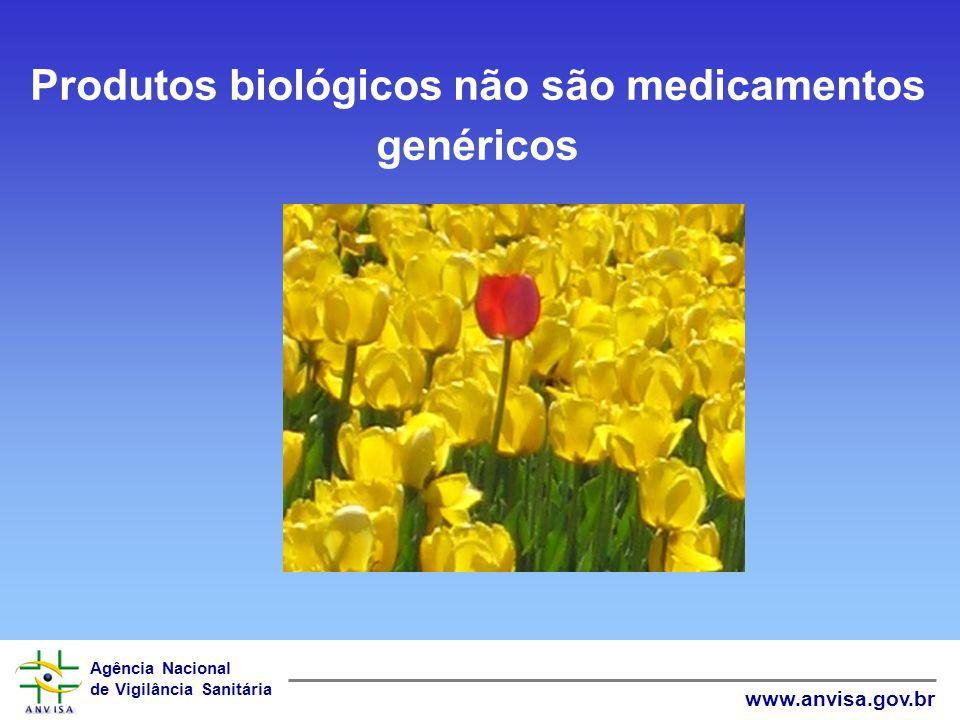 Produtos biológicos não são medicamentos genéricos