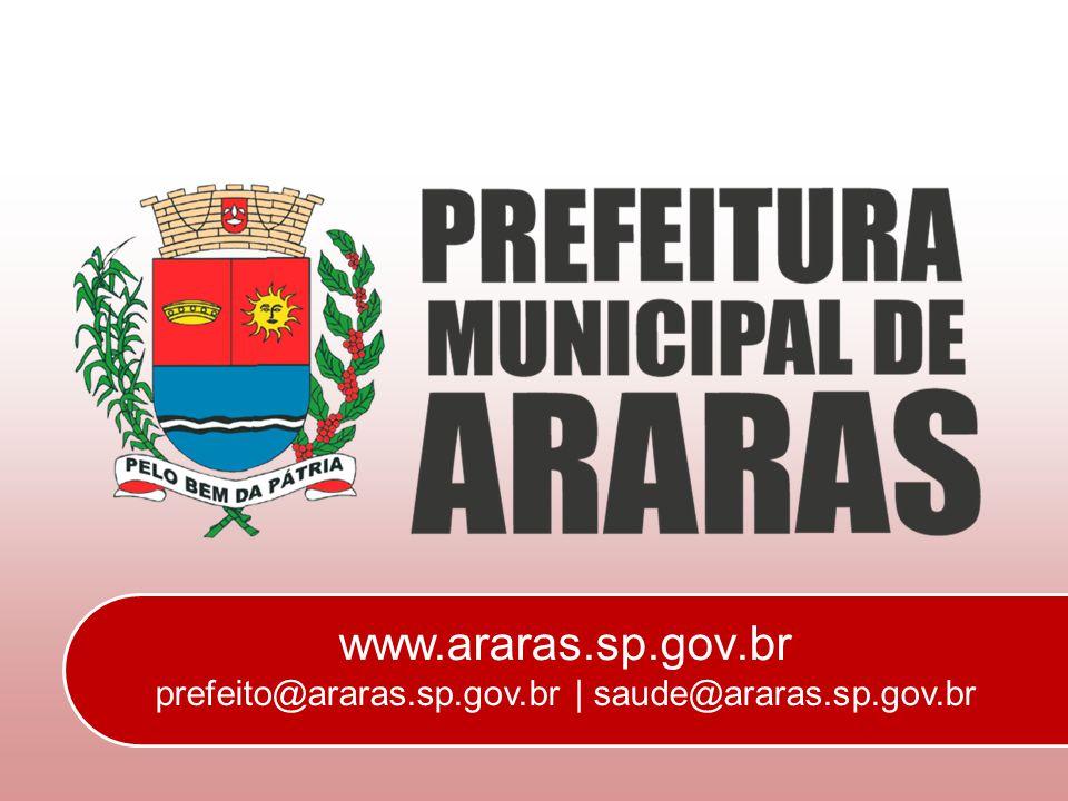 www. araras. sp. gov. br prefeito@araras. sp. gov. br | saude@araras