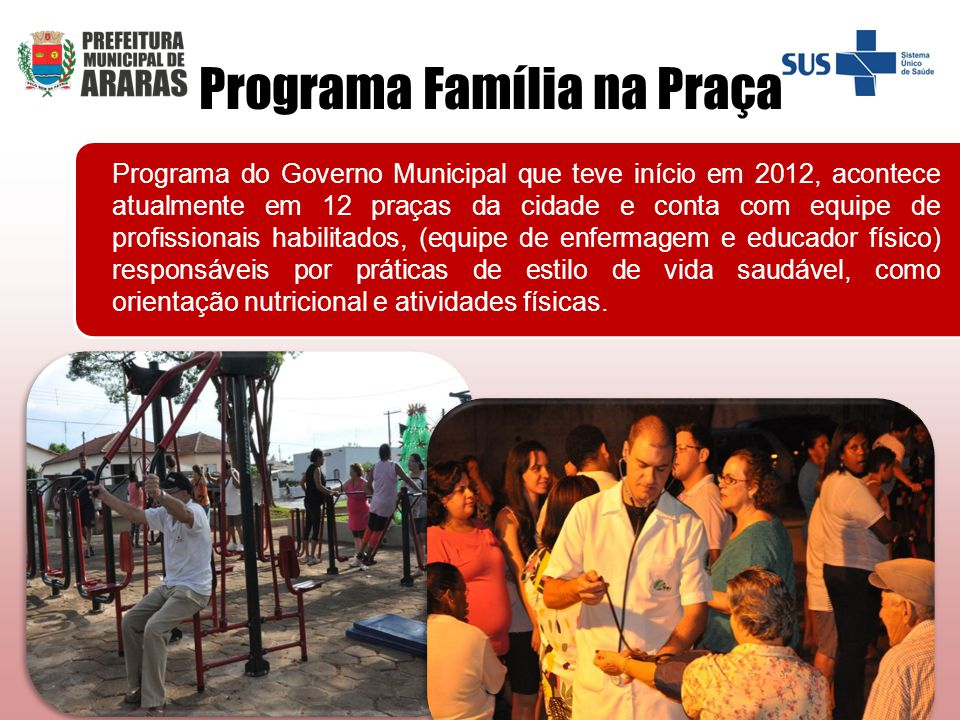 Programa Família na Praça