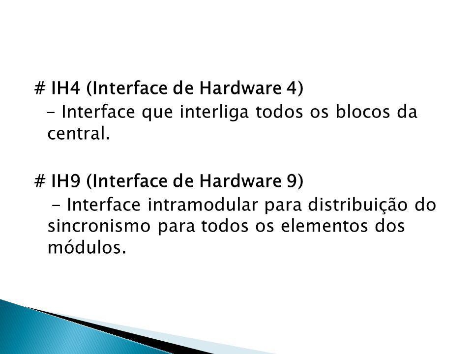# IH4 (Interface de Hardware 4) - Interface que interliga todos os blocos da central.
