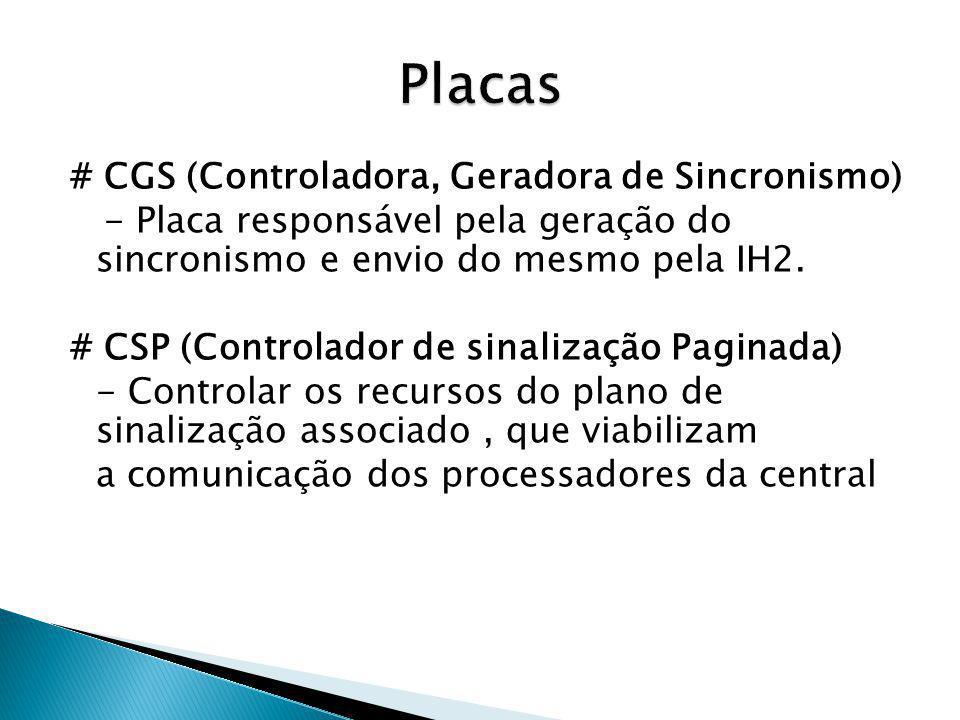 Placas # CGS (Controladora, Geradora de Sincronismo)