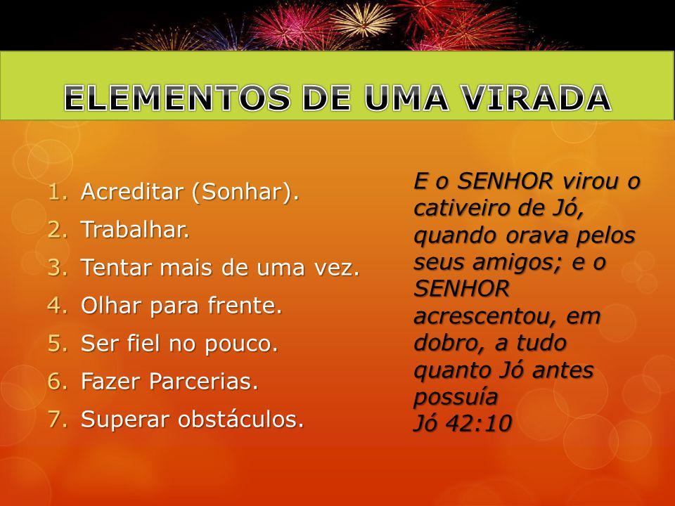 ELEMENTOS DE UMA VIRADA