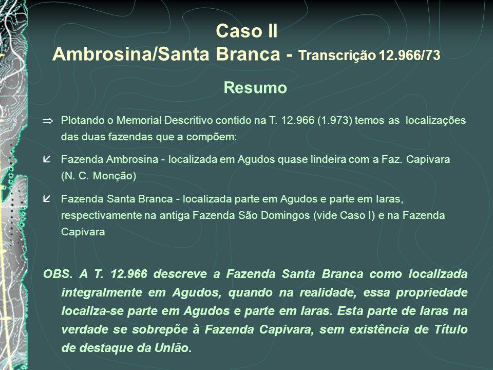 Caso II Ambrosina/Santa Branca - Transcrição 12.966/73