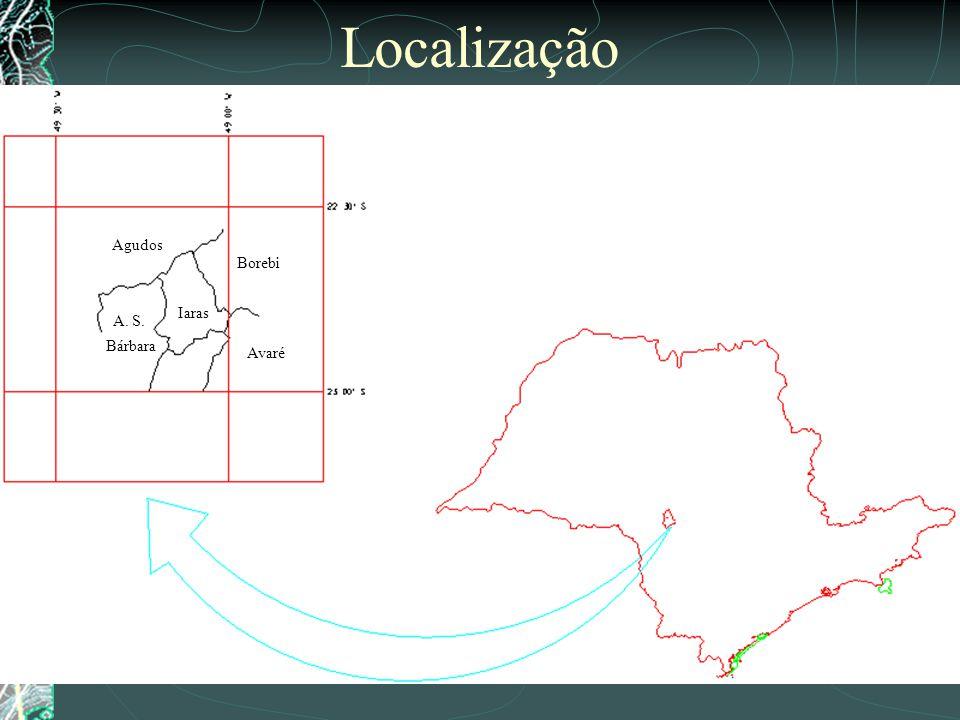 Localização Agudos Borebi Iaras A. S. Bárbara Avaré