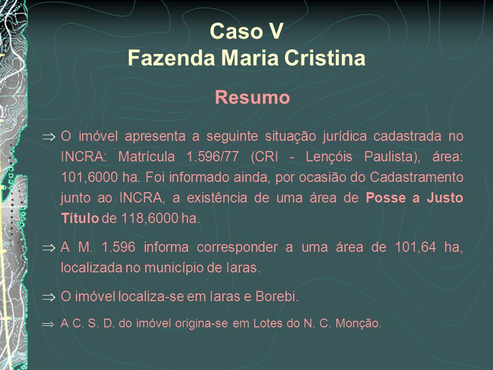 Caso V Fazenda Maria Cristina