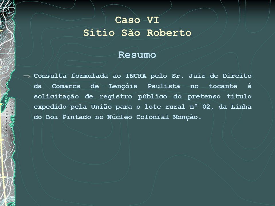 Caso VI Sítio São Roberto