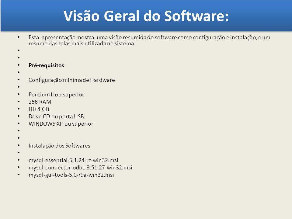 Visão Geral do Software: