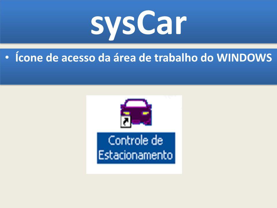 Ícone de acesso da área de trabalho do WINDOWS