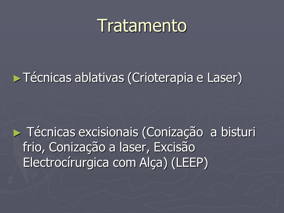 Tratamento Técnicas ablativas (Crioterapia e Laser)