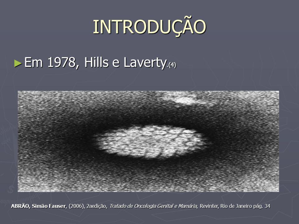 INTRODUÇÃO Em 1978, Hills e Laverty.(4)