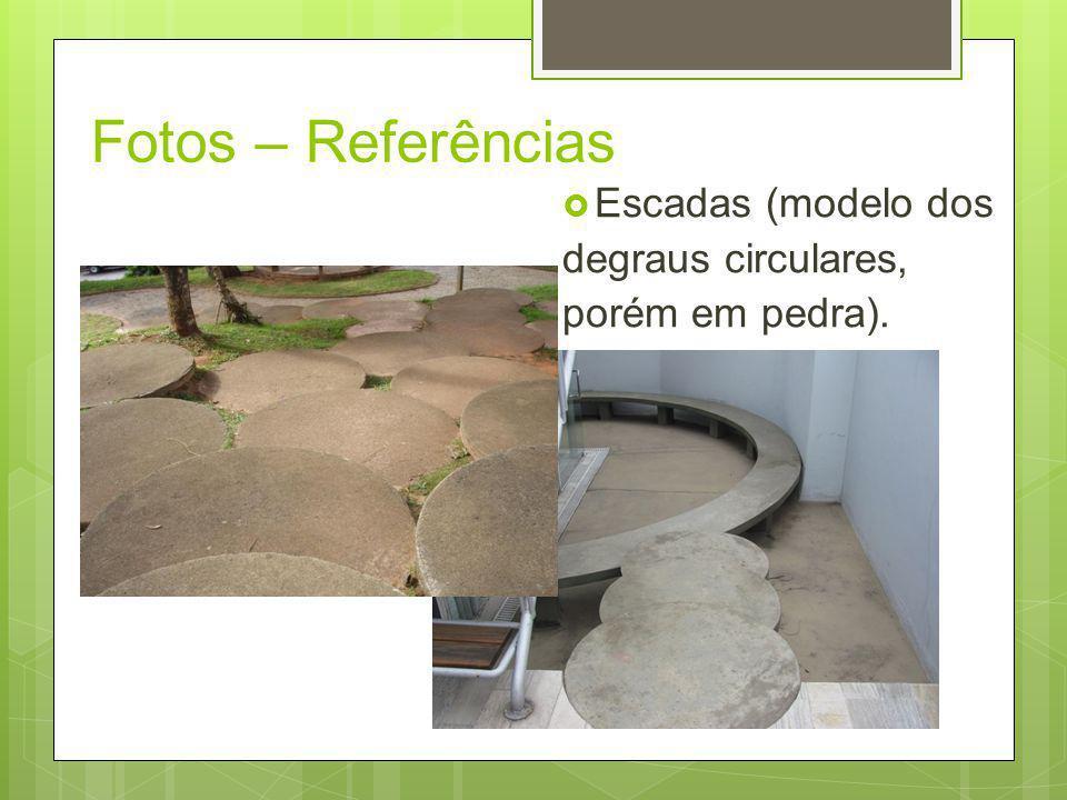 Fotos – Referências Escadas (modelo dos degraus circulares,