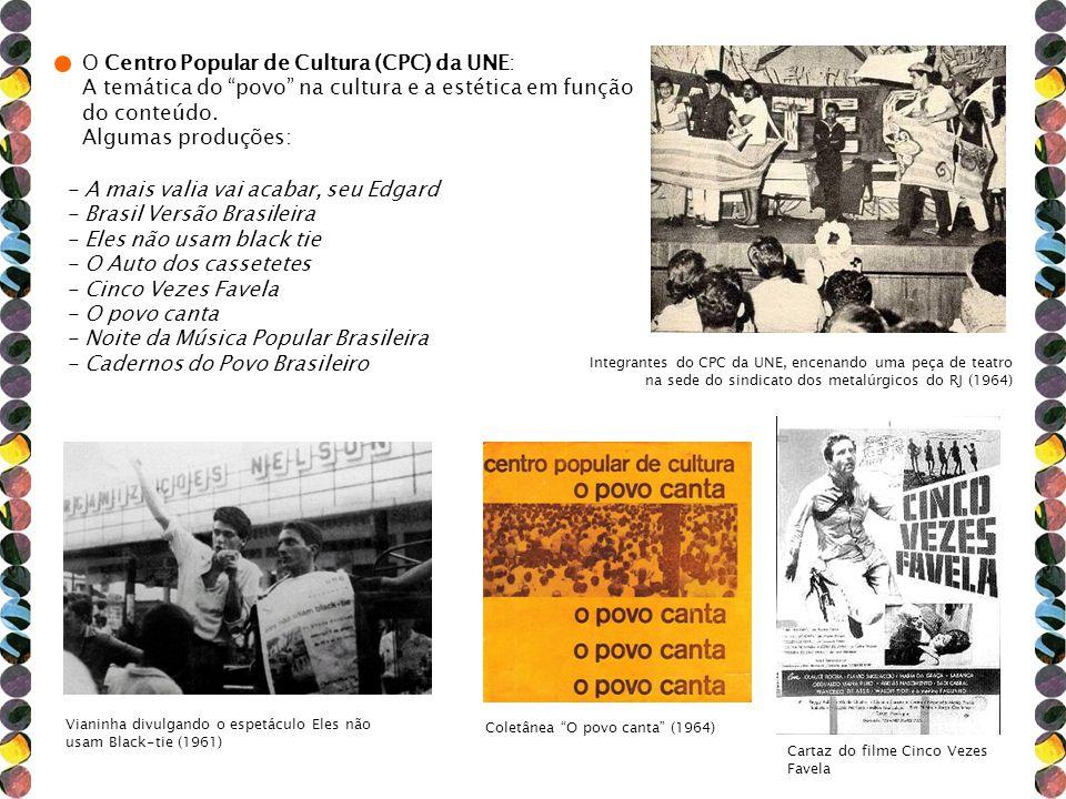 O Centro Popular de Cultura (CPC) da UNE: