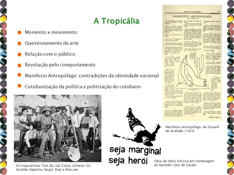 A Tropicália Momento x movimento Questionamento da arte